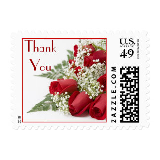 El ramo de los rosas rojos le agradece franqueo