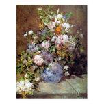 El ramo de Renoir de primavera florece la postal