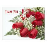 El ramo del rosa rojo le agradece cardar invitación 10,8 x 13,9 cm