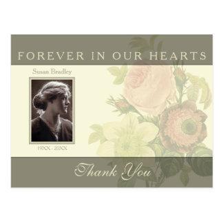 El ramo del vintage con condolencia del marco le tarjetas postales