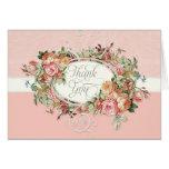 El ramo floral color de rosa antiguo del vintage l felicitación
