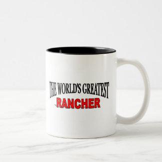 El ranchero más grande del mundo taza de dos tonos