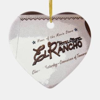 El Rancho Hotel Ceramic Ornament