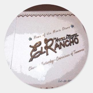 El Rancho Hotel Classic Round Sticker