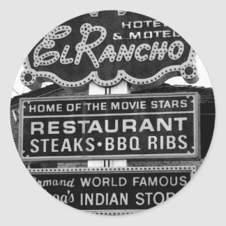 El Rancho Hotel Sign Classic Round Sticker