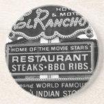 El Rancho Hotel Sign Coasters