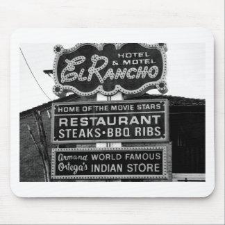 El Rancho Hotel Sign Mouse Pad