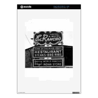 El Rancho Hotel Sign Decals For iPad 2
