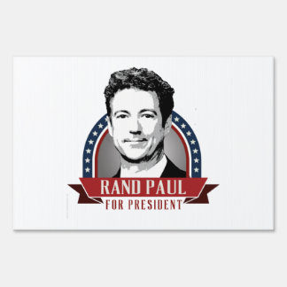 El rand Paul para el presidente 2016 Spangled la Letreros