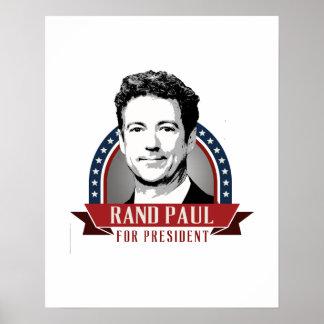 El rand Paul para el presidente 2016 Spangled la Póster