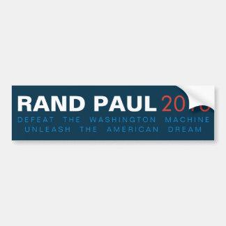 El rand Paul provoca el sueño americano Pegatina Para Auto