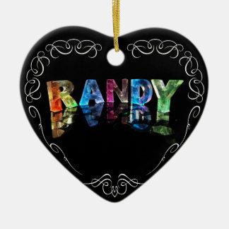 El Randy conocido en 3D se enciende (la Adorno Navideño De Cerámica En Forma De Corazón