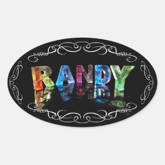 El Randy conocido en 3D se enciende (la Pegatina Ovalada