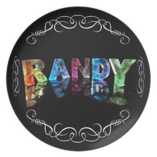 El Randy conocido en 3D se enciende (la Platos De Comidas