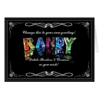 El Randy conocido en 3D se enciende (la Tarjeta De Felicitación