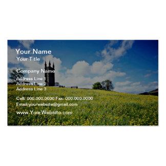 El ranúnculo ancho del peine florece, Devon, flowe Plantilla De Tarjeta De Negocio