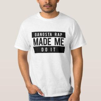 El rap de Gangsta hizo que lo hace camisa