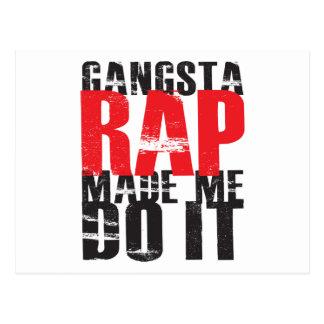 El rap de Gangsta hizo que lo hace - negro Postal
