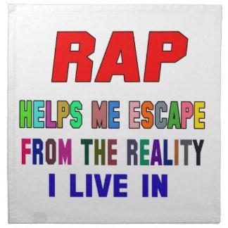 El rap me ayuda servilleta imprimida