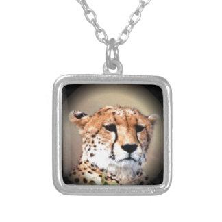El rasgón del guepardo marca Hakunamatata Colgante Cuadrado
