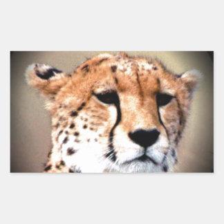 El rasgón del guepardo marca Hakunamatata Pegatina Rectangular