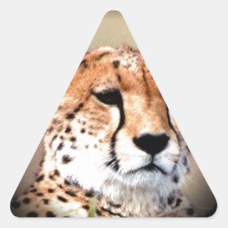 El rasgón del guepardo marca Hakunamatata Pegatina Triangular