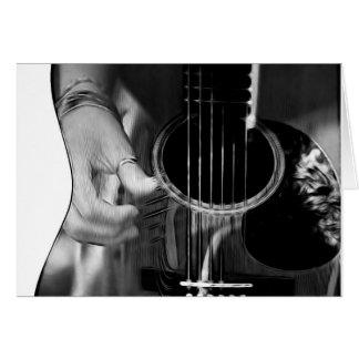 El rasguear de la guitarra tarjeta de felicitación