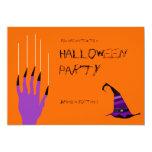 El rasguño anaranjado púrpura Halloween del clavo Anuncios Personalizados