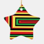El rasta de JAMAICA arraiga colores Adorno Navideño De Cerámica En Forma De Estrella