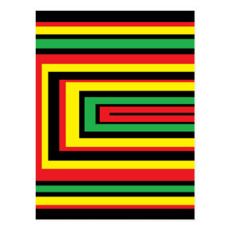 El rasta de JAMAICA arraiga colores Postal