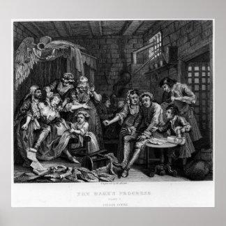 El rastrillo en la prisión, placa VII Póster