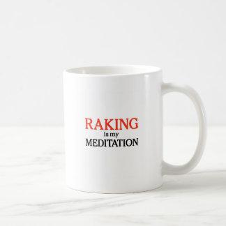 El rastrillo es mi meditación taza