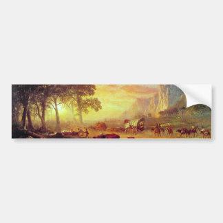 El rastro de Oregon - Albert Bierstadt Pegatina Para Auto