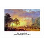 El rastro de Oregon, Albert Bierstadt Postal