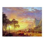 El rastro de Oregon - Albert Bierstadt Postal