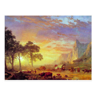 El rastro de Oregon - Albert Bierstadt Tarjetas Postales