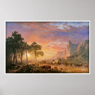 El rastro de Oregon de Albert Bierstadt 1869 Póster