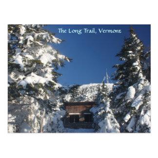 El rastro largo, Vermont en invierno Postal