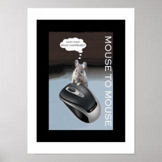 El ratón chillón resuelve el ratón del ordenador póster
