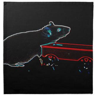 el ratón con oscuridad del carro resume el animal servilletas de papel
