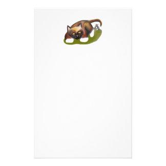 El ratón cosquillea el gatito  papeleria