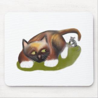 El ratón cosquillea el gatito tapetes de raton