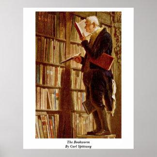 El ratón de biblioteca de Carl Spitzweg Poster