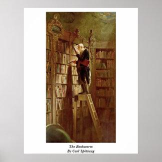 El ratón de biblioteca de Carl Spitzweg Póster