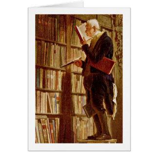 El ratón de biblioteca de Carl Spitzweg Tarjeta De Felicitación