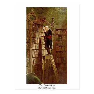 El ratón de biblioteca de Carl Spitzweg Tarjeta Postal
