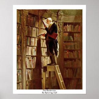 El ratón de biblioteca, por Spitzweg, Carl Póster
