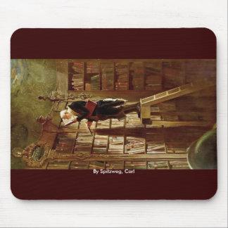El ratón de biblioteca, por Spitzweg, Carl Tapetes De Raton