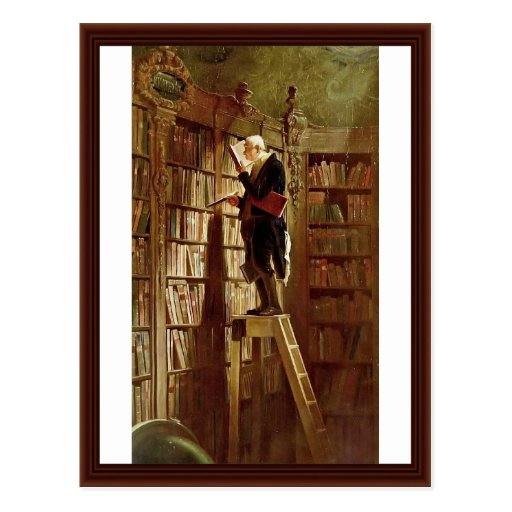 El ratón de biblioteca, por Spitzweg, Carl Postal