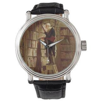 El ratón de biblioteca relojes de pulsera